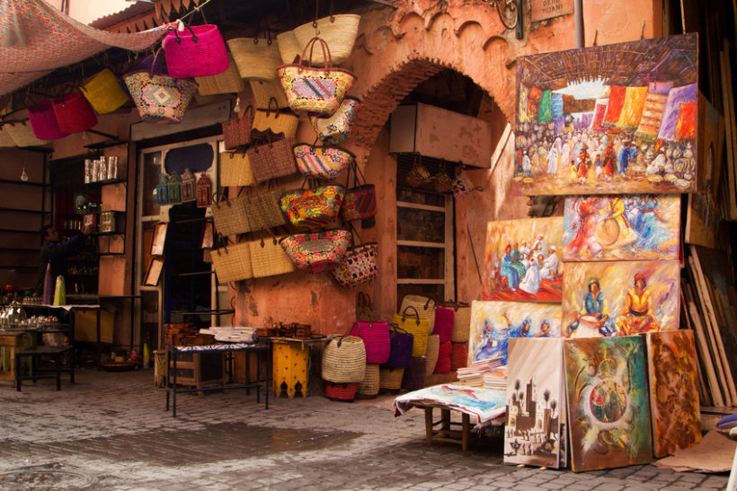 Old medina art street shop, Marrakesh, Morocco